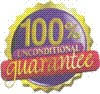 100% Unconditional Satisfaction Guaranteed Logo