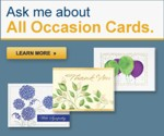 "Ask me about ""All Occasion"" cards"