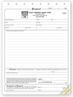 118 Proposal Classic Form personalized with your business information