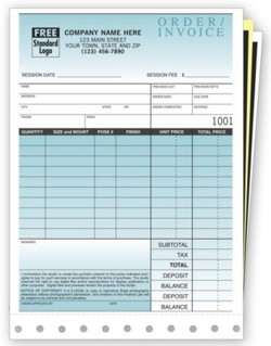 135 Small Photo Sales Order Invoice personalized with your busines information