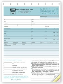 136 Photography Sales Order Invoice personalized with your business information