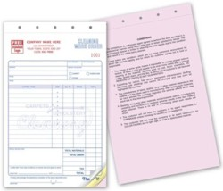 2518 Carpet Cleaning Work Order Forms personalized with your business information