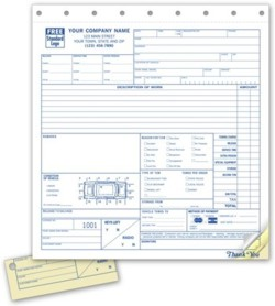 2526 Road Service Towing Form personalized with your business information
