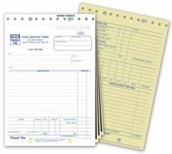 255 Auto Repair Work Order Invoice Form personalized with business information