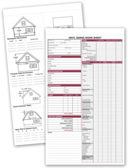 257 Vinyl Siding Work Sheet personalized with your business information