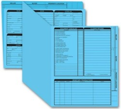 275B Real Estate Folder, Right Panel List, Letter Size, Blue