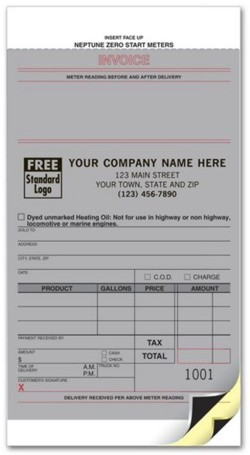 28 Fuel Meter Ticket personalized with your business information