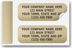 335 Gold Foil Label personalized with your business information
