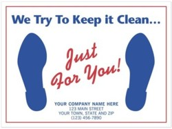 6515 Auto Floor Mat personalized with your business information. Request a FREE sample.