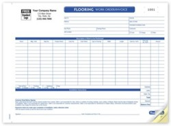 CON0268 Flooring Work Order Invoice personalized with your business information