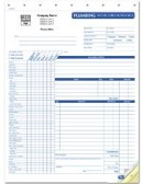 CON6540 Plumbing Invoice with checklist personalized with your business information