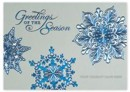 H14609 Silver Blue Holiday Card