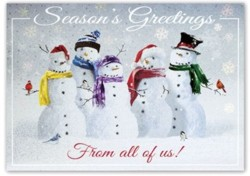 H15654 Snow Squad Holiday Card personalized with your business or personal information