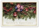 H15655 Majestic Garland Patriotic Holiday Cards