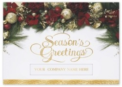 H2625 Garland of Joy Holiday Card personalized with your business or personal information