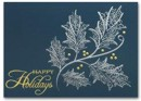 HH1600 Silver and Gold Holiday Card personalized with your business or personal information