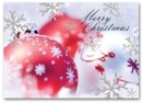 HH1693 Silver Serenade Holiday Card personalized with your business or personal information