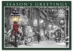 HP15314; Main Street Holiday Cards personalized with your business information