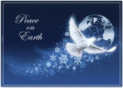 HP2315 Peace Abounds Holiday Cards personalized with your business or personal information