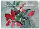 HS1316 Seasonal Flora Holiday Card personalized with your business or personal information