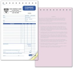 RHS2518 Carpet Cleaning Invoice personalized with your business information